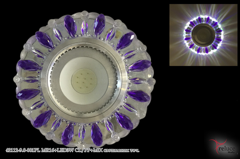 42112-9.0-001PL MR16+LED3W CL/PP+MIX светильник точ.